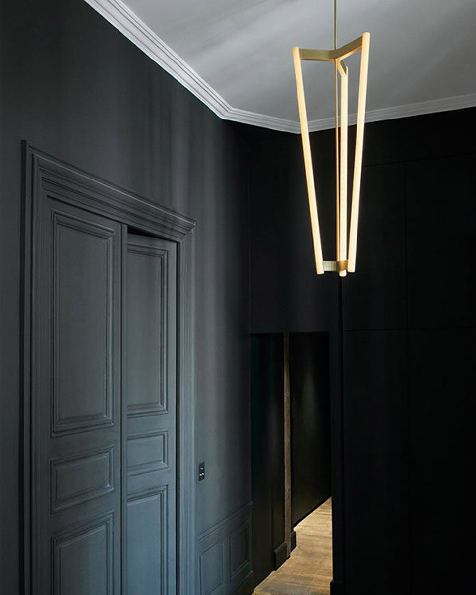 Tube chandelier
